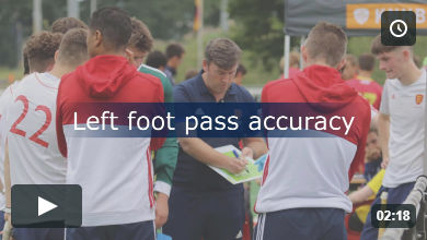 Left foot pass accuracy