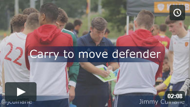 Carry to move defender